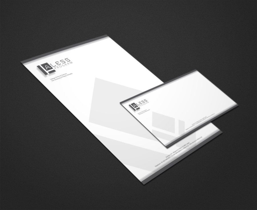 ALESS Program Letterhead & Envelope Design