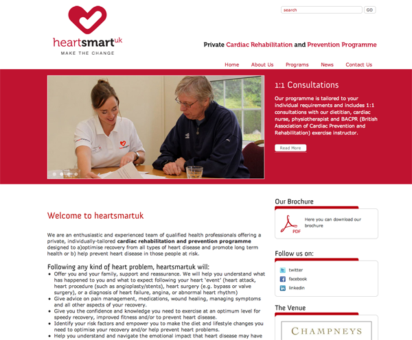 HeartSmart UK Website Design