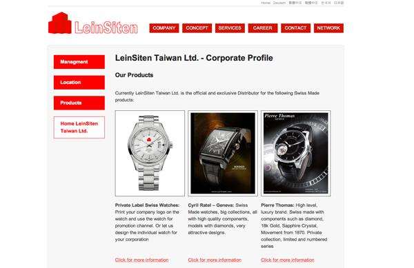 LeinSiten Website Update
