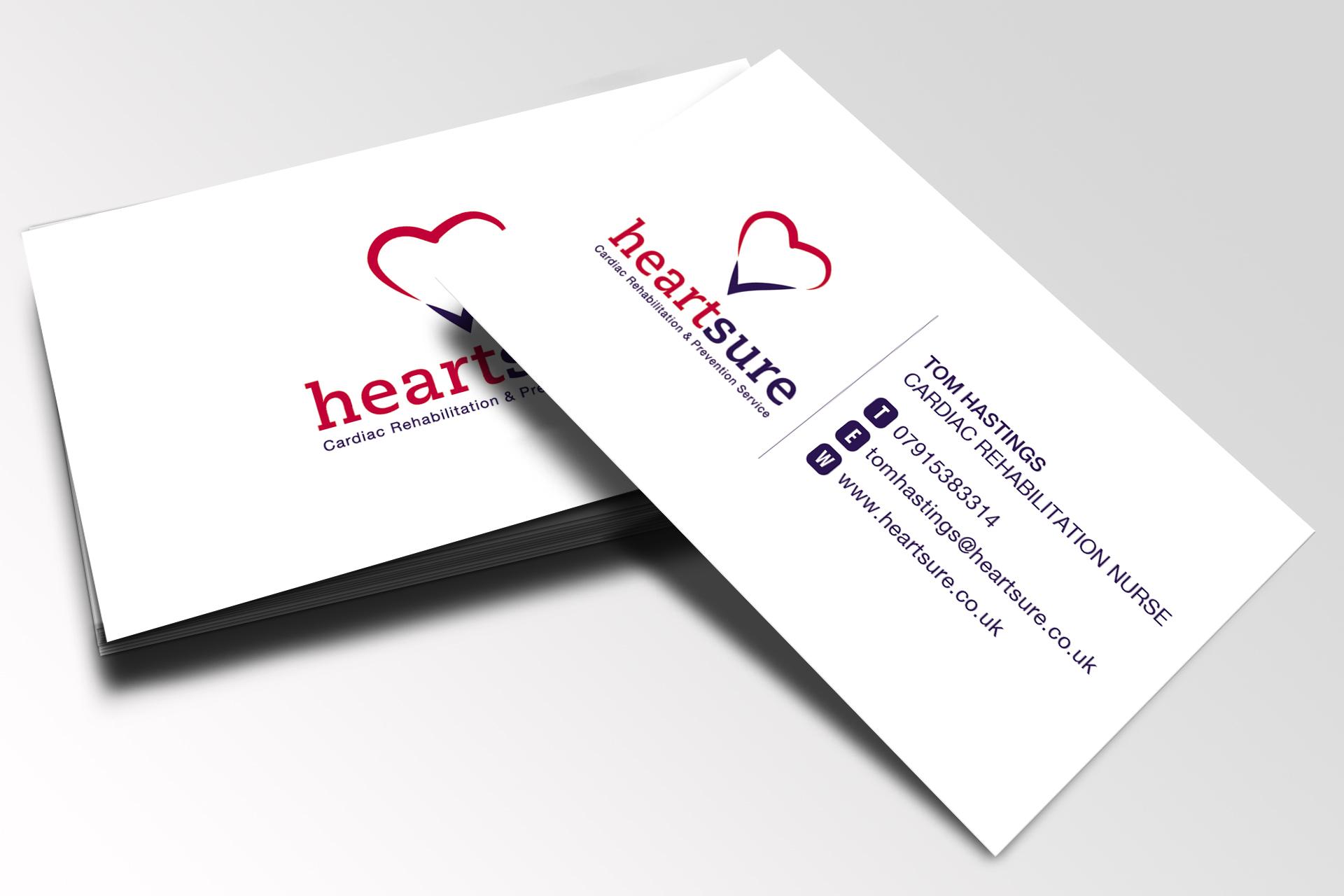 Heartsure Business Cards Genus Design Blog